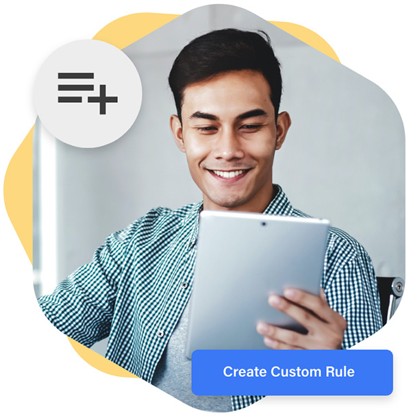 Create custom rules with ease